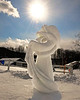 This snow sculpture, created by Team Urquhart, is warmed by the late morning sun, at the 11th Annual New Hampshire Sanctioned Jackson Snow Sculpting Invitational, at Black Mountain Ski Area, in Jackson, NH, on January 29th, 2012.