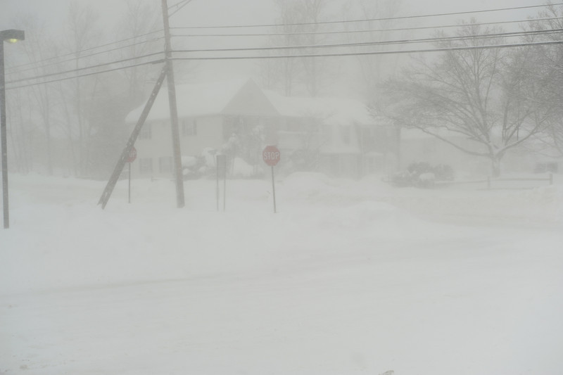 Storm 2 - Wednesday afternoon Feb 10th.  Looking out the front door of the firehouse