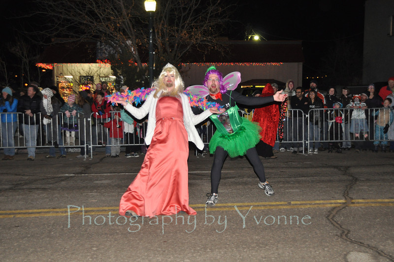 2012 Snowdown Light Parade. Princess & Tinkerbelle.