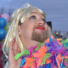 "2012 Snowdown Light Parade.  David was profesionally made up to participate in the float ""Cancer's a Drag""."