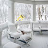 Covered Porch in #Snowzilla