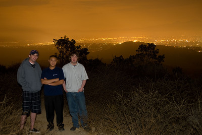Scott (Inkjet) took Daniel and I to the 'top of the world' where we were able to view all of Orange County.