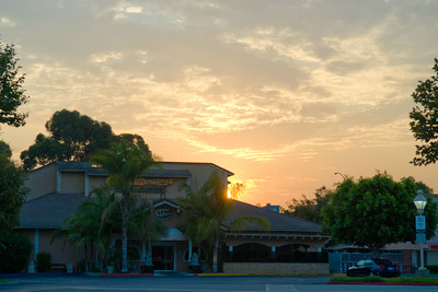 The sunrise when I arrived in Irvine, CA at 6 in the morning.