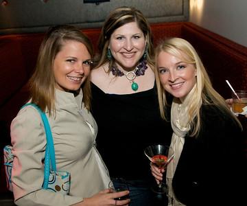 Candace Klein of Newport, Katy Crossen of Oakley and Elizabeth Edwards of Walnut Hills at Bang