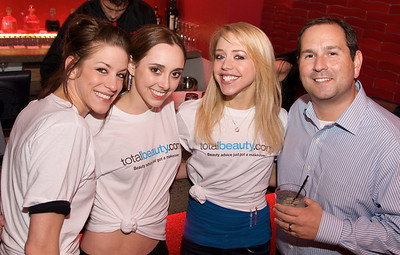 Kelly, Jackie, and Courtney of the Cincinnati Ballet with John from Total Beauty