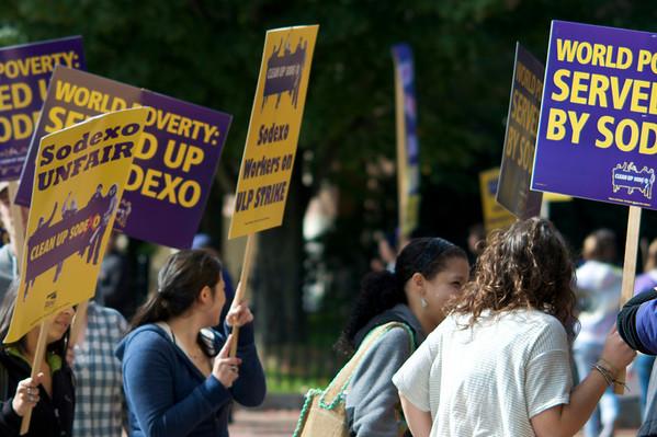 Sodexo Strike at Clark University