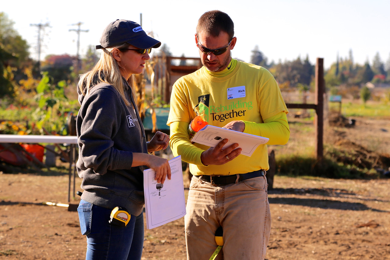 On Project Day, Rebuilding Together coordinated 85 volunteers from Lowe's plus a crew from Carter's Kids to add a playground and spruce up existing buildings at Soil Born Farms' American River Ranch.