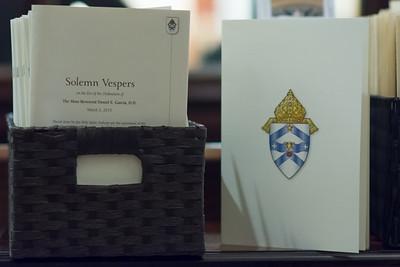 Solemn Vespers with Bishop Elect Garcia