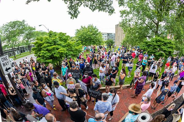 Solidarity rally in Columbus, Indiana on June 4, 2020. Photo by Tony Vasquez