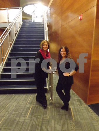 Shelly Bottorff, music director, and Susan Ahlers-Leman.