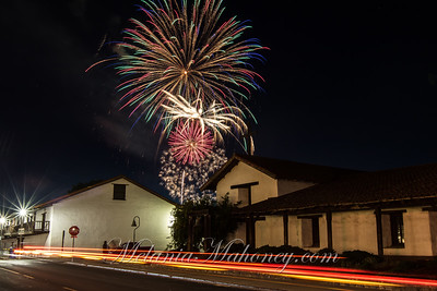 Fireworks over the Mission.