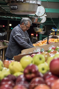 6am Marcos Dalakiaris sorting tomatoes at Fruit Basket #2 in Boyes Hot Springs.