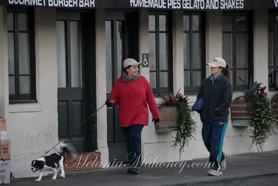6:55am Dog walkers along Spain Street.