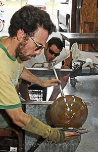 100210 Glassblowers Alex Leader and Steve Gandolfo