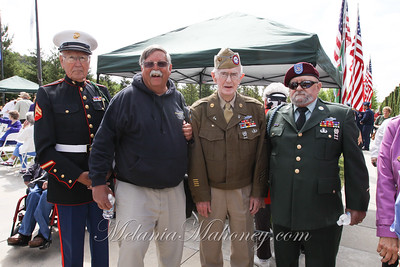 Corporal Don Geddes with Peter Martin, Donald Coouston and Buck Sargeant Ron Harrah.