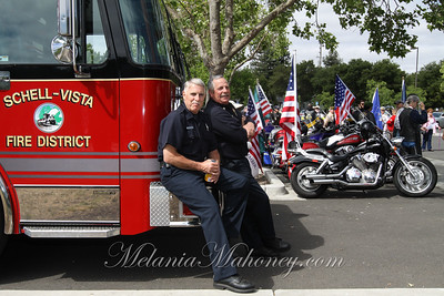Bob Benziger and Fire Chief Ray Mulas of the Schell-Vista Fire District.