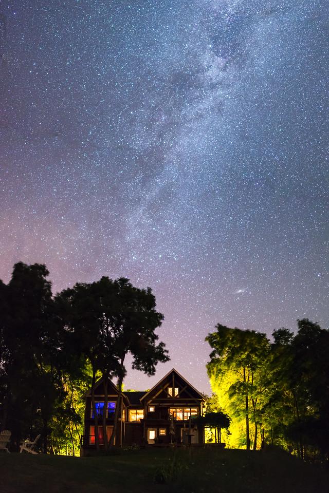 Milky Way over DeSoto Bluff
