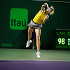 Maria Sharapova defeats Lucie Safarova  6-4, 6-7 (7), 6-2 after nine match points to close out a win Saturday night in the third round of the Sony Open.