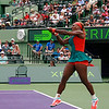 Serena Williams (USA) defeats Caroline Garcia (FRA) 6-4, 4-6, 6-4  at Sony Open Tennis, Miami, FL 2014