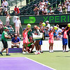 Serena Williams (USA) defeates Caroline Garcia (FRA) 6-4, 4-6, 6-4  at Sony Open Tennis, Miami, FL 2014