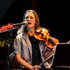 Multitasking violinist...