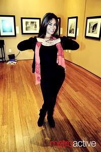 Belly Dancing Performer Jennifer Nahas Downtown Yoga Shala Photo by Annalisa Hackleman