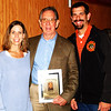 Debbie Blank | The Herald-Tribune<br /> Hall of Fame inductee Ed Krause (center) celebrates with daughter Kim Clarke (left), Bloomington, and Dave Krause, Batesville, after the ceremony. Daughter Kari Wolf, Harrison, Ohio, is not pictured. Wife Debbie had already taken the grandkids home.