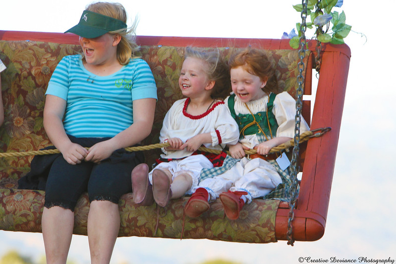 """Wheeeeee!!!! These silly little girls were giggling and screaming. It was great.  As heard by their father next to me 'You scream like a bunch of little girls"""" ..... too funny!"""