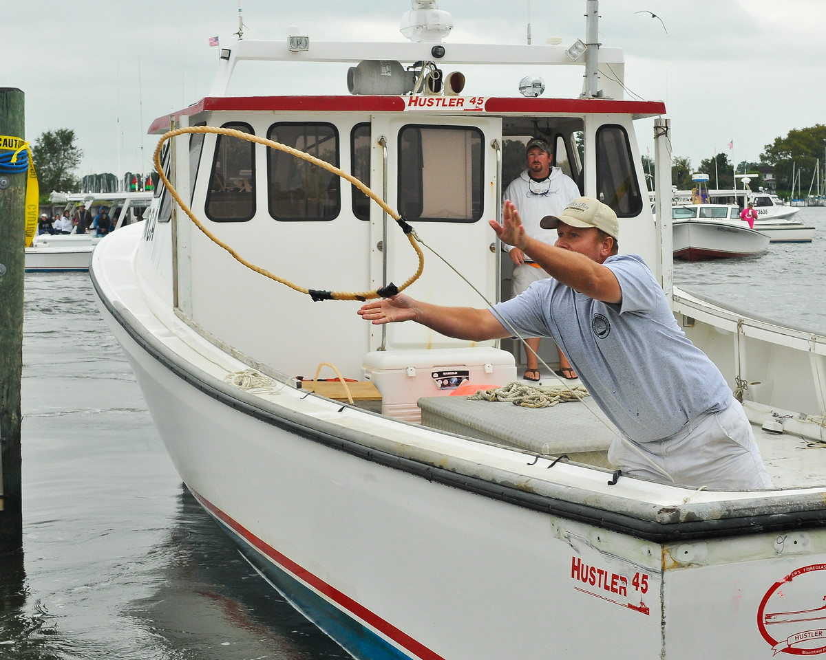 Sept. 18th,  A southern Maryland tradition, a boat docking competition in Solomon's Island MD.