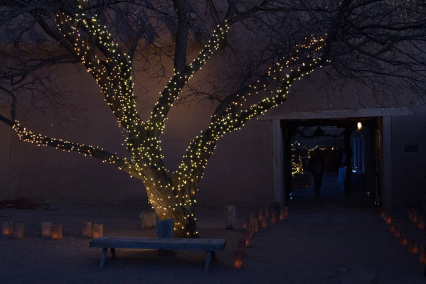 Casa San Ysidro (interior courtyard), Corrales, NM