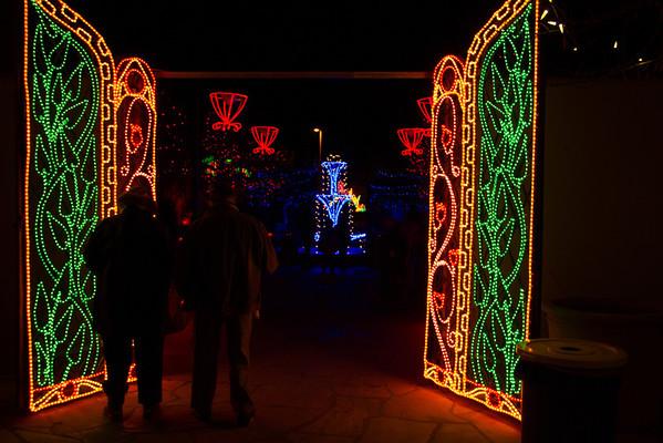 """Albuquerque BioPark """"River of Lights"""""""