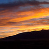 Sunrise over Sandia Mountains, Corrales, NM