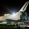 The space shuttle is huge.