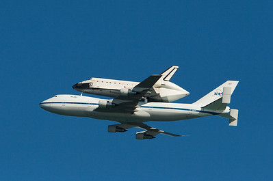 Space Shuttle Endeavor and rocket launch