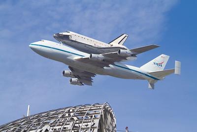 Space Shuttle Endeavour Flyover - NASA Moffett Field - Mountain View, CA, USA