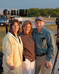 My Cousin's Cindy & Tim Rucci, Sister Patty in Middle. Enjoying the final launch of Space Shuttle Endeavour.