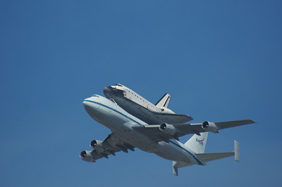 Space Shuttle Endeavour Flyover Mtn. View