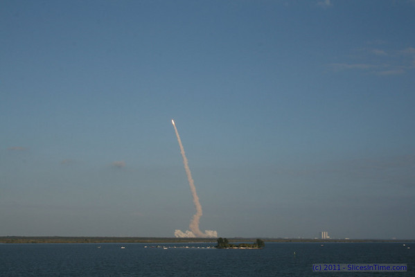 Space Shuttle Discovery lifts off from Kennedy Space Center, Florida on her last voyage on mission STS-133 - Feb 24, 2011 at 4:55 PM EST