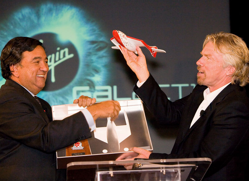 NM Governor Bill Richardson and Sir Richard Branson