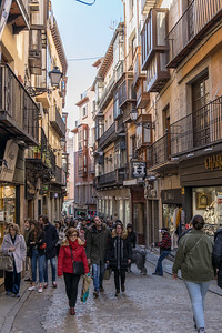 A typical narrow street in Toledo