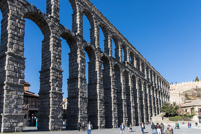 Segovia's Roman Aquaduct, believed to have been completed in 98 A.D.