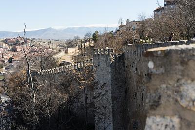 Segovia ancient city walls