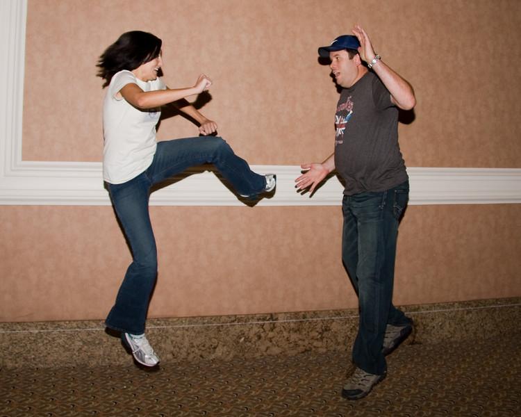 Practice Jumping - @sharepointsara & @lespaulrob