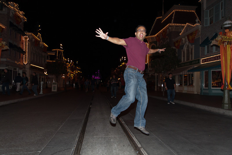 Hersh Jumps in Disney Village
