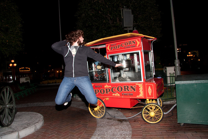 valerie jumps at popcorn stand