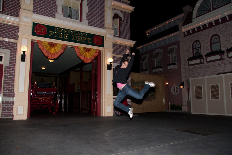 Marcy jumps at firehouse