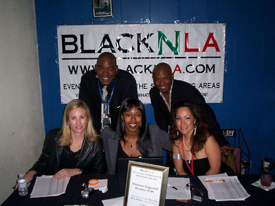 BlackNLA Staff: Stacie, Jr. (aka Lawrence), Danika, Keito and Regina