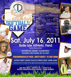 CELEBRITY SOFTBALL GAME JULY 16,2011