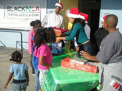 handing out toys is the best part