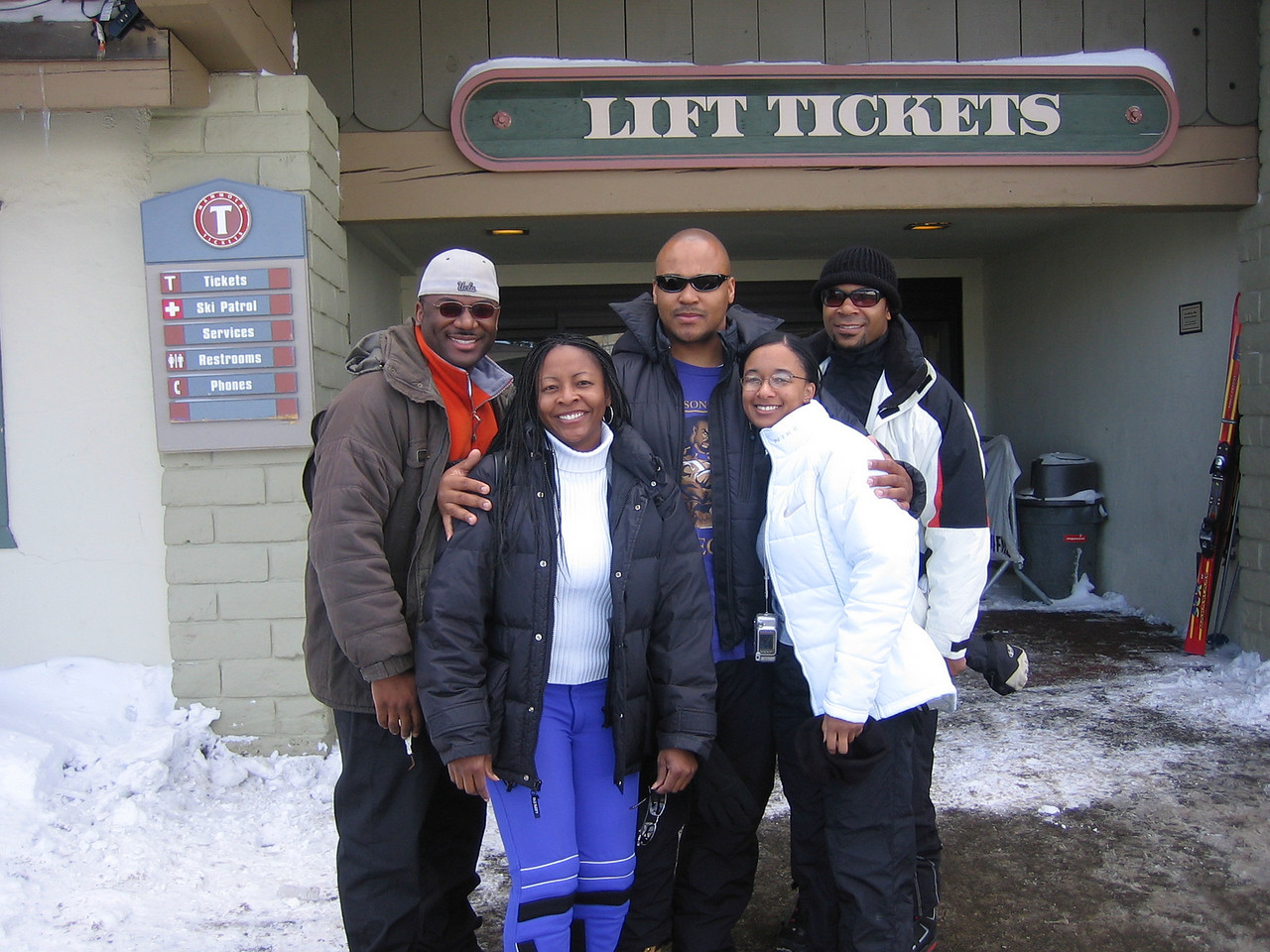 We are ready to buy our tickets and hit the slopes